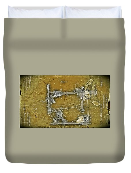 Sewing Machine Patent Duvet Cover