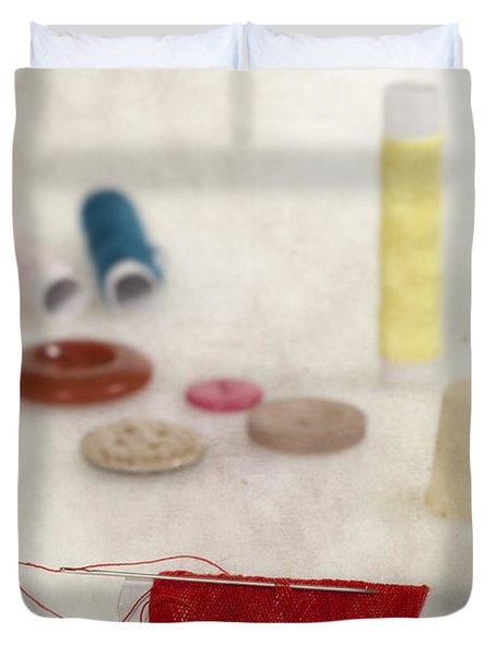 Sewing Supplies Duvet Cover by Joana Kruse