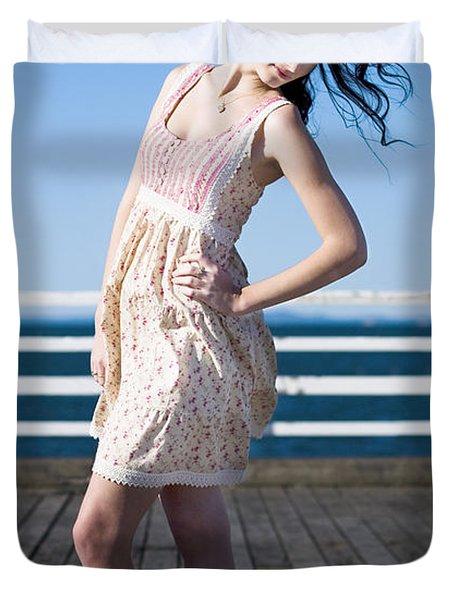 Sexy Fashion Model Duvet Cover