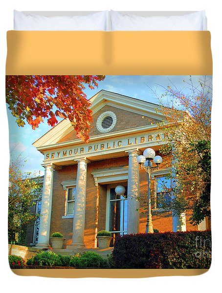 Seymour Public Library Duvet Cover by Jost Houk