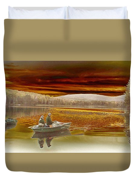 Seyon Sunset Duvet Cover by Paul Miller
