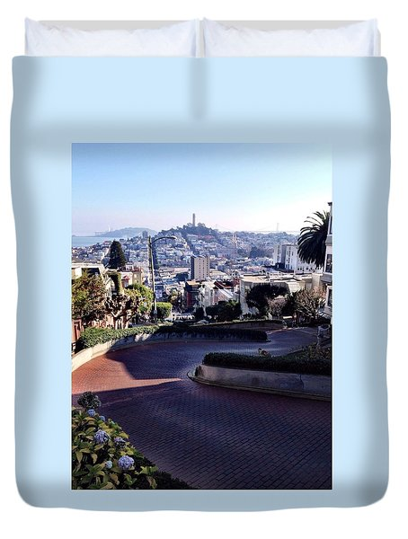 Sf Curves Duvet Cover