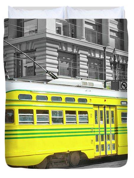 Sf Streetcar Duvet Cover