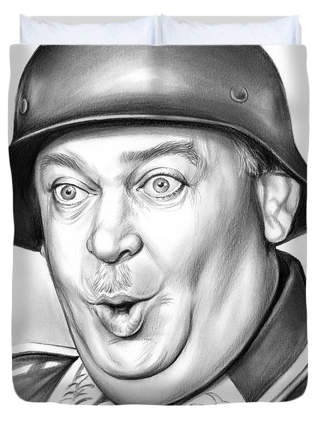 Sgt Schultz Duvet Cover by Greg Joens