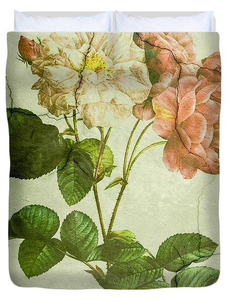 Shabby Chic Pink And White Peonies Duvet Cover