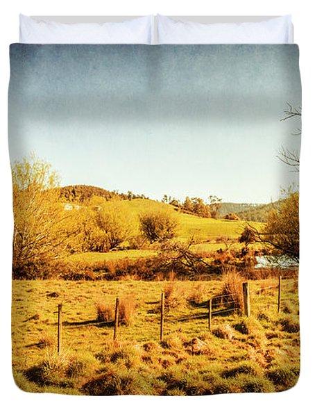 Shabby Country Farmland Duvet Cover
