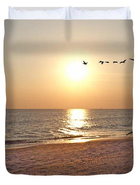 Shackleford Banks Sunset Duvet Cover