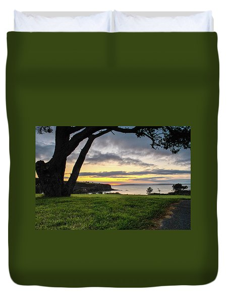 Shaded Sunrise Duvet Cover