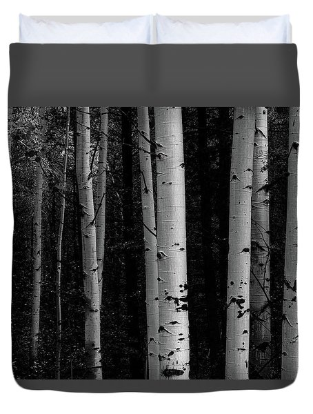 Duvet Cover featuring the photograph Shades Of A Forest by James BO Insogna