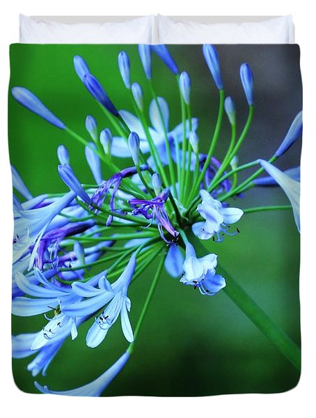 Shades Of Blue And Lilac Duvet Cover