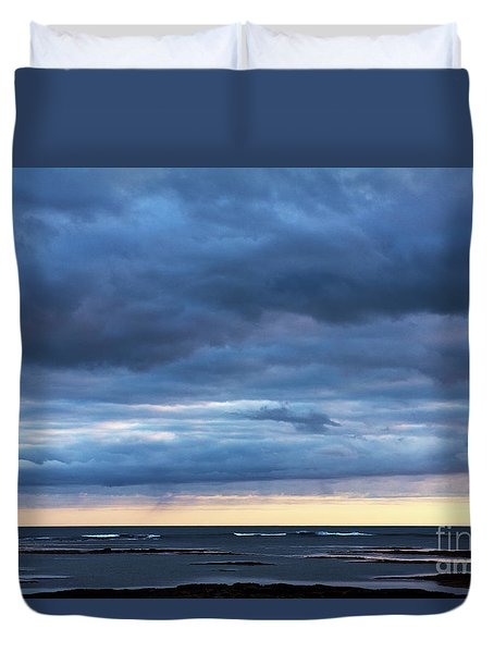 Duvet Cover featuring the photograph Shades Of Blue.. by Nina Stavlund