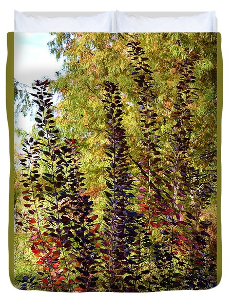 Duvet Cover featuring the photograph Shades Of Fall by Deborah  Crew-Johnson