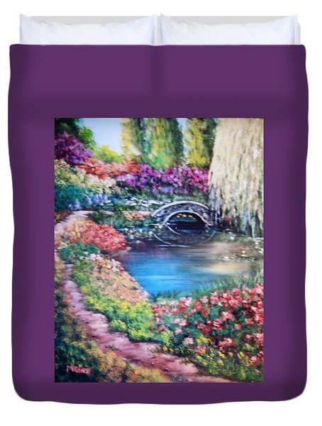 Shades Of Giverny Duvet Cover by Megan Walsh