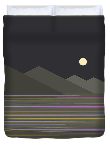 Shades Of Gray At Night Duvet Cover