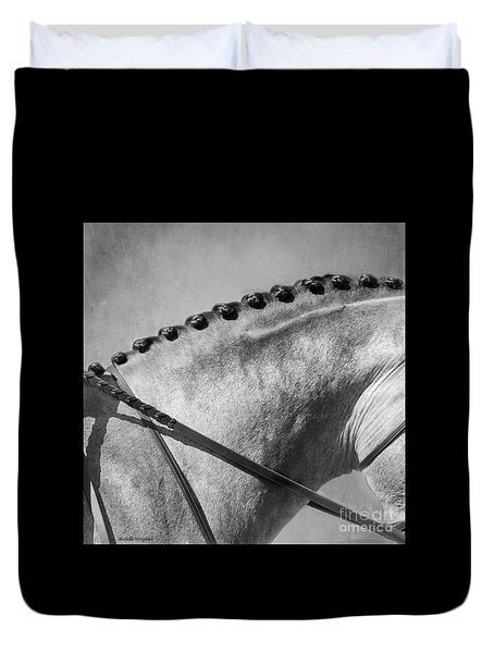 Shades Of Grey Fine Art Horse Photography Duvet Cover