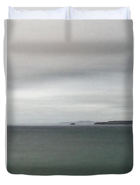 Duvet Cover featuring the digital art Shades Of Grey by Julian Perry
