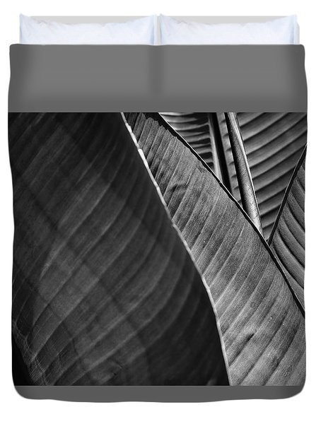 Shades Of Heliconia Duvet Cover