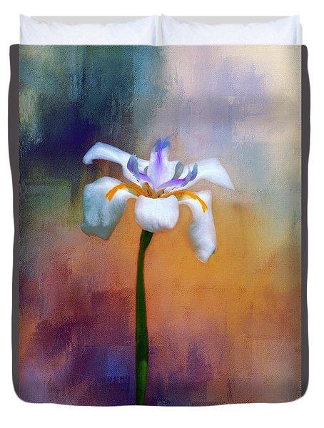 Shades Of Iris Duvet Cover by Carolyn Marshall