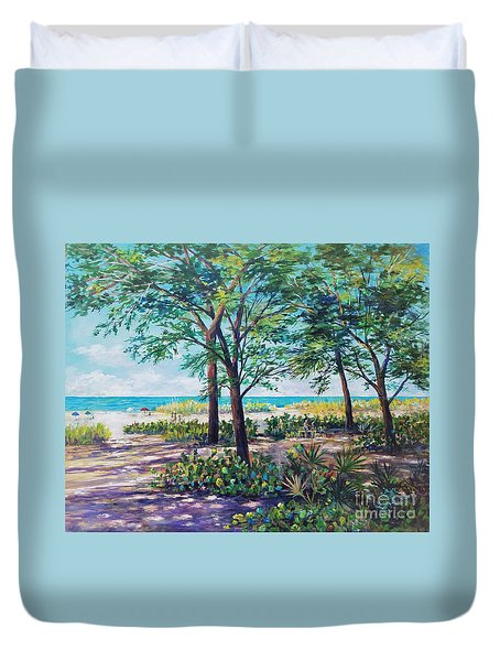 Shades Of Longboat Key Duvet Cover