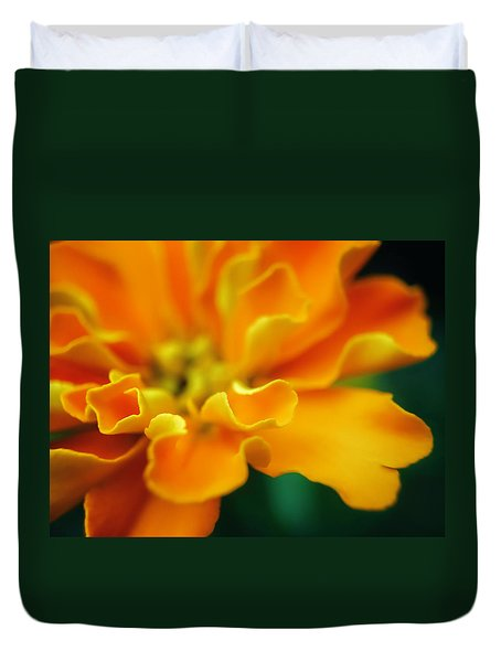 Duvet Cover featuring the photograph Shades Of Orange by Eduard Moldoveanu
