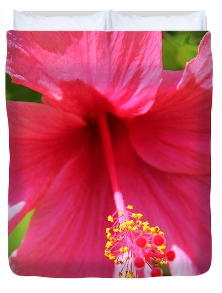 Shades Of Pink - Hibiscus Duvet Cover