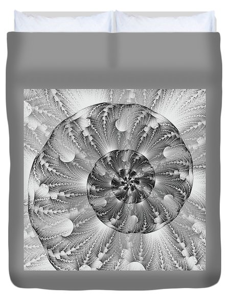 Shades Of Silver Duvet Cover