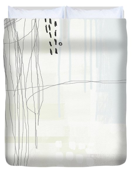 Shades Of White 1 - Art By Linda Woods Duvet Cover