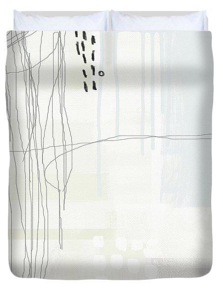 Shades Of White 1 - Art By Linda Woods Duvet Cover