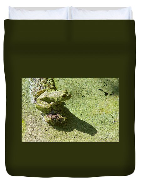 Shadow And Frog Duvet Cover