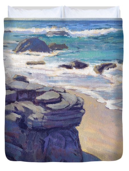 Shadow At Crystal Cove Duvet Cover