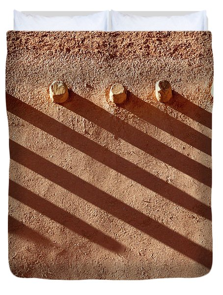 Duvet Cover featuring the photograph Shadow Beams by Nicholas Blackwell