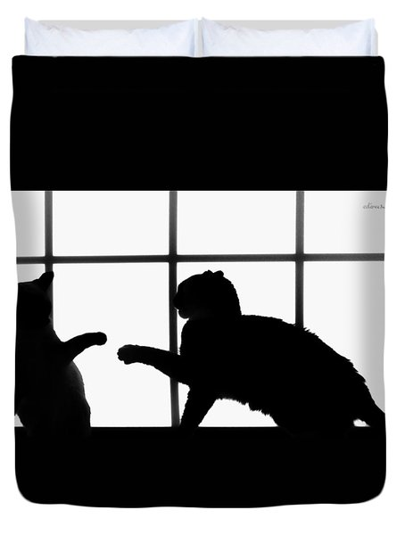 Shadow Boxing Duvet Cover