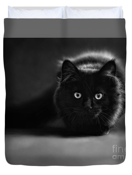 Shadow Cat 2 Duvet Cover