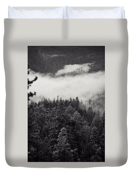 Shadow Forest Duvet Cover by Leah Moore