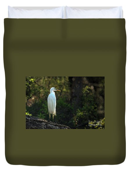 Shadow Heron Duvet Cover