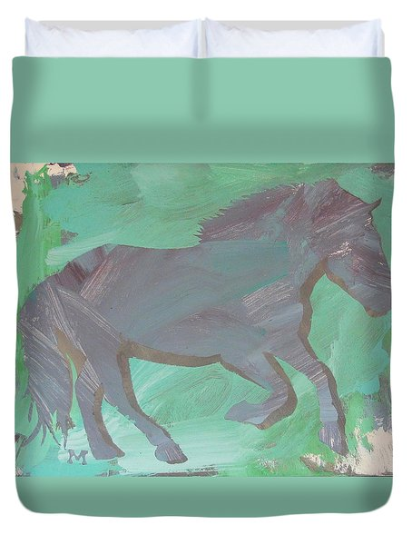Shadow Horse Duvet Cover