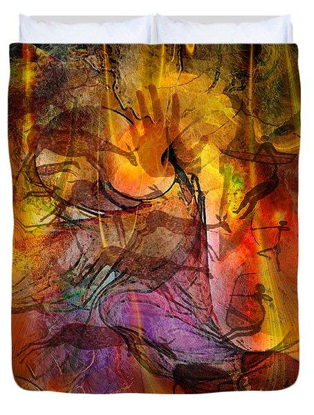 Shadow Hunters Duvet Cover by John Robert Beck