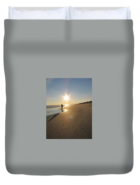 Shadow In The Sun Duvet Cover by Laura Henry