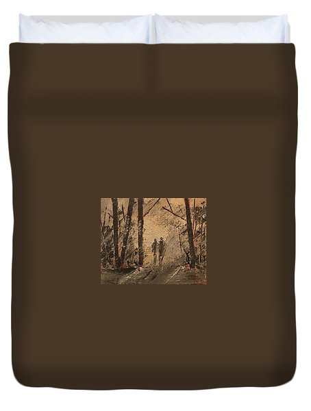 Shadow Of A Doubt Duvet Cover