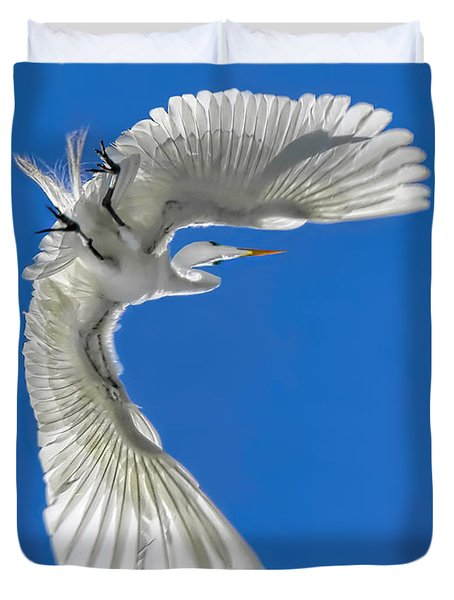 Shadow On A Wing Duvet Cover