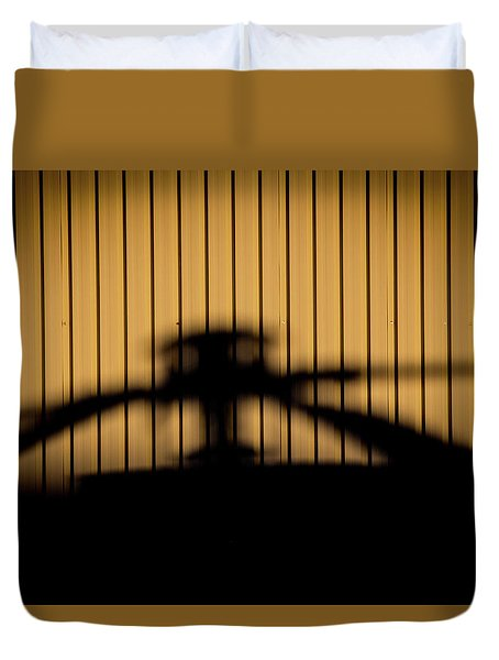 Duvet Cover featuring the photograph Shadow Rotor by Paul Job