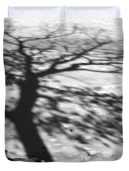 Shadow Tree  Herrick Lake  Naperville Illinois Duvet Cover