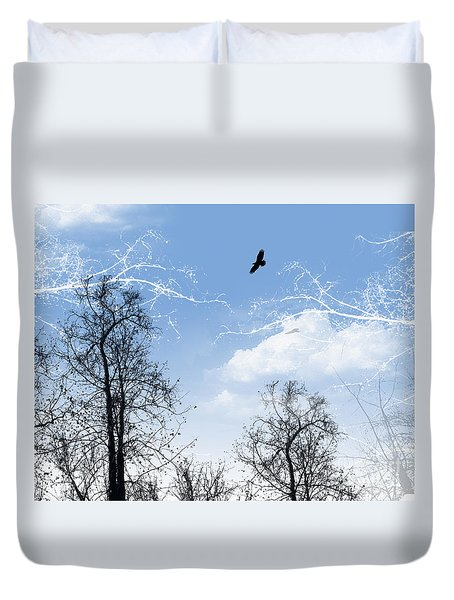 Duvet Cover featuring the painting Shadow by Trilby Cole