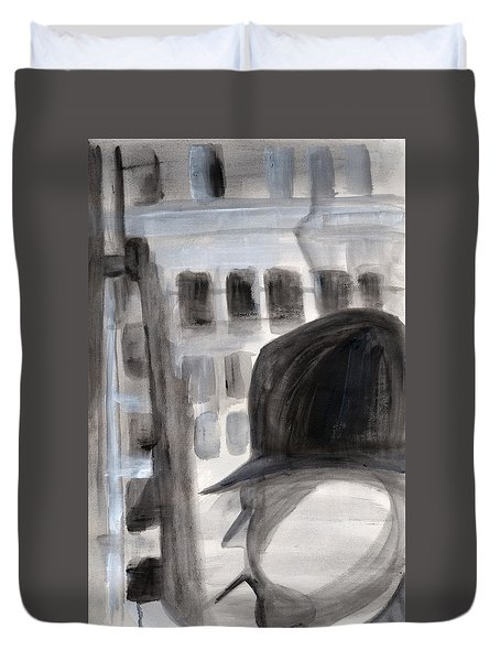 Shadowman Duvet Cover