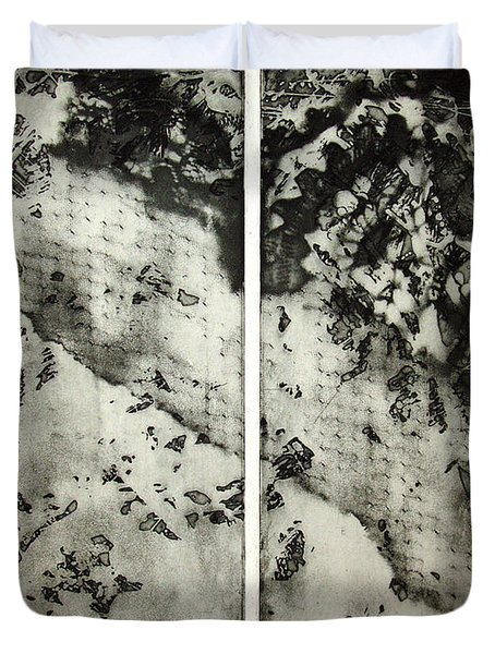 Shadows And Lace Duvet Cover by Nancy Mueller