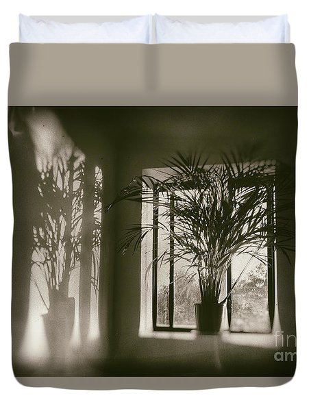 Shadows Dance Upon The Wall Duvet Cover