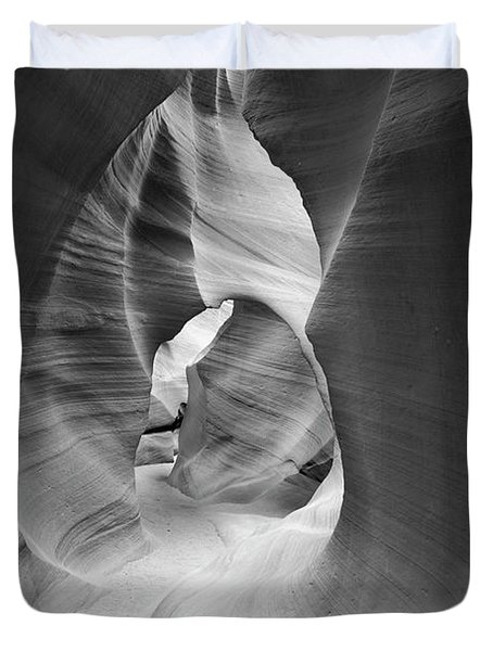 Shadows In Antelope Canyon Duvet Cover
