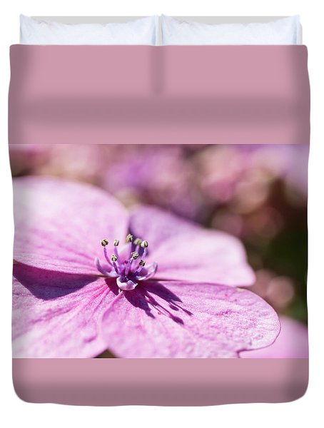 Shadows In Pink Duvet Cover