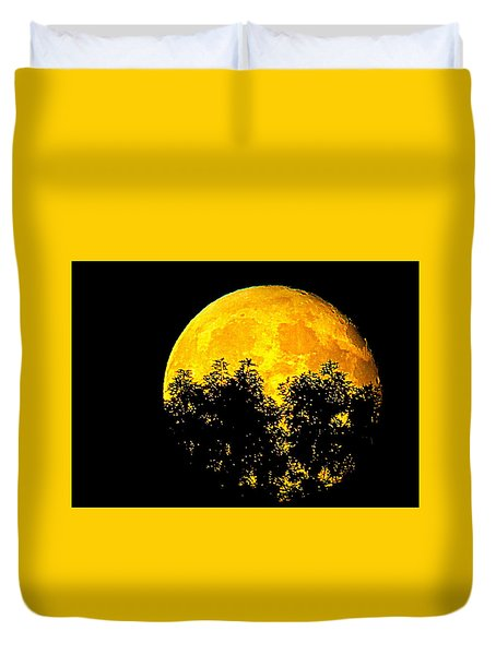 Shadows In The Moon Duvet Cover
