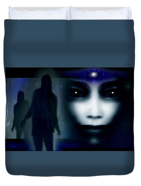 Shadows Of Fear Duvet Cover